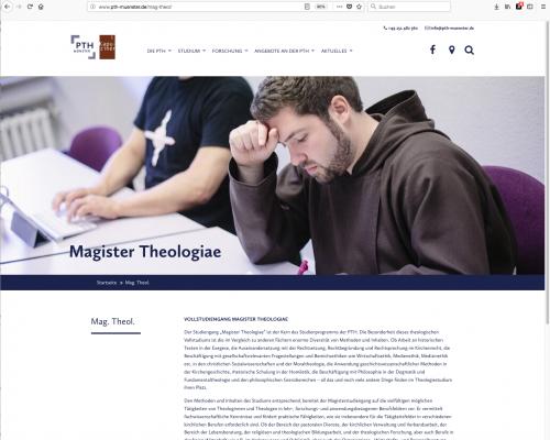 Homepage der PTH Münster
