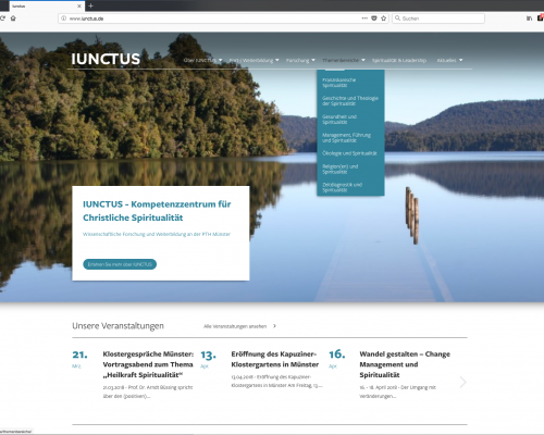 Website IUNCTUS Homepage